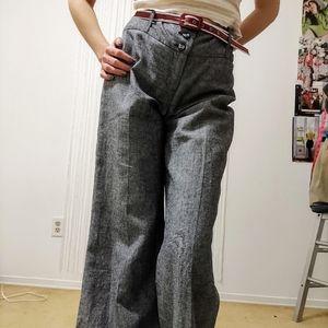Vintage Wide Leg Pants + Belt